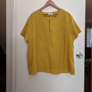 Boxy Mustard Yellow Top